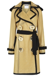 Moschino Gold Mesh Trench Coat