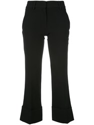 Versus Cropped Trousers Black