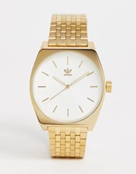 Adidas Z02 Process Bracelet Watch In Gold With White Dial