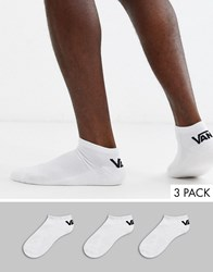 Vans Classic 3 Pack Low Trainer Sock In White