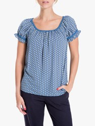 Max Studio Off The Shoulder Top Navy Mimosa