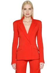 Thierry Mugler Double Breasted Cady Stretch Jacket