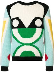 Walter Van Beirendonck Abstract Pattern Pullover Multicolour