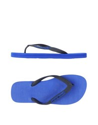 Emporio Armani Footwear Thong Sandals Men Dark Blue