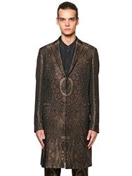 Etro Paisley Viscose And Silk Jacquard Coat