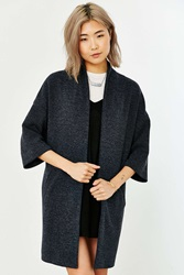 Silence And Noise Silence Noise Ribbed Drapey Jacket Charcoal