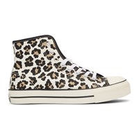 Converse Off White Lucky Star Hi Leopard Print Sneakers