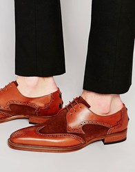 Jeffery West Brogue Shoes Brown