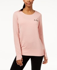Ideology Graphic Strappy Back Sweatshirt Shimmer Pink