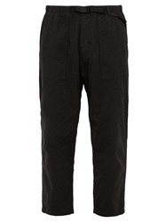 Gramicci Belted Cotton Twill Trousers Black