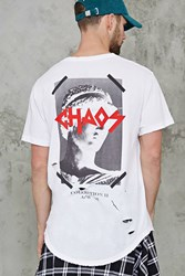 Forever 21 Chaos Graphic Tee White Black