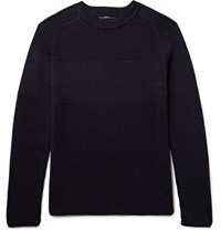 Helbers Ribbed Cotton Sweater Midnight Blue
