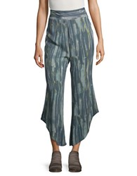 Free People Dancing Days Pull On Flare Pants Blue