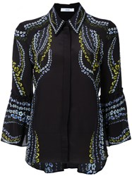 Erdem Flower Print Shirt Women Silk 8 Black