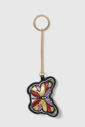 Topshop Butterfly Embroidered Keyring Multi