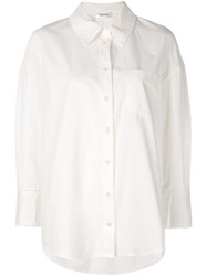 Anine Bing Mika Oversized Shirt White