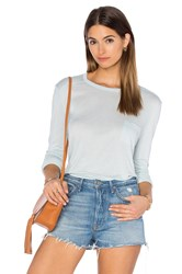 Alexander Wang Classic Long Sleeve Tee With Pocket Mint