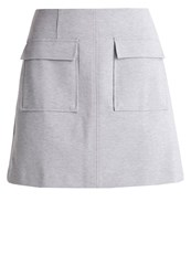 Banana Republic Mini Skirt Light Grey Heather Silver