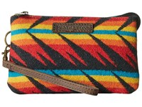 Pendleton Three Pocket Keeper Arrow Path Black Clutch Handbags Yellow