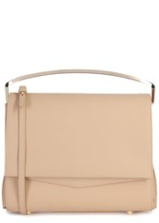 Eddie Borgo Boyd Large Biscuit Leather Clutch Beige