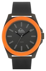 Men's Quiksilver 'The Fader' Silicone Strap Watch 43Mm