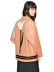 Marni Double Face Nappa Leather Cocoon Jacket Nude
