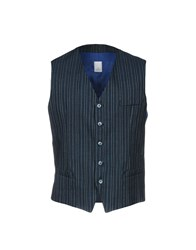 Domenico Tagliente Vests Dark Blue