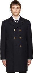 Thom Browne Navy Long Classic Peacoat
