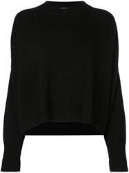 Dusan Long Sleeve Fitted Sweater Black