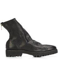 Guidi Rear Zip Ankle Boots Black