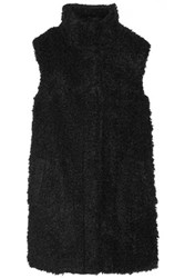 Theory Faux Shearling Vest Black
