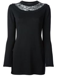 Ermanno Scervino Lace Insert Sweater Black