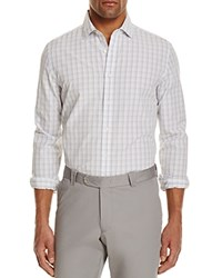 Bloomingdale's The Men's Store At Shadow Plaid Regular Fit Button Down Shirt Powder Blue