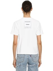 Vetements Inside Out Logo Jersey T Shirt White