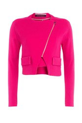 Roland Mouret Zipped Wool Jacket Pink