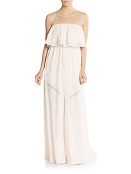 L Space Del Ray Lace Trimmed Maxi Dress Shell