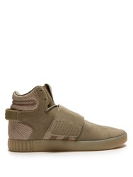 Adidas Tubular Invader High Top Suede Trainers Dark Grey