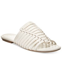 American Rag Paige Woven Flat Sandals Only At Macy's Women's Shoes White
