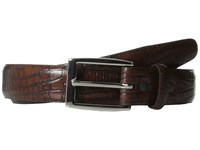 Torino Leather Co. 30Mm Alligator Calfskin Cognac Antic Brush Off Belts Brown
