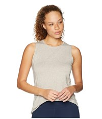 Tasc Performance Nola Tank Top Crater Heather Sleeveless Gray