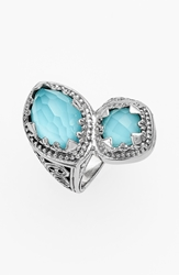 Konstantino 'Aegean' Stone Ring Silver Turquoise