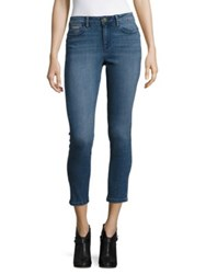 Ivanka Trump Skinny Fit Whiskered Jeans Blue