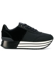 Calvin Klein Jeans Striped Sole Platform Sneakers Black