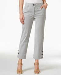 Charter Club Petite Striped Cropped Pants