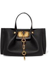 Valentino Garavani Escape Small Textured Leather Tote Black