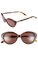 Women's Bcbgmaxazria 'Stunning' 53Mm Cat Eye Sunglasses Stunning Tortoise