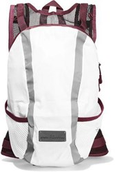 Adidas By Stella Mccartney Run Mesh Paneled Color Block Shell Backpack White