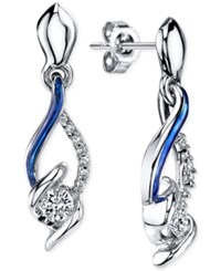 Sirena Jeans Diamond Drop Earrings In 14K White Gold 1 4 Ct. T.W. No Color