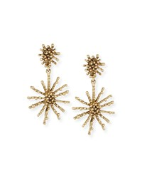 Golden Starfish Clip On Drop Earrings Light Gold Oscar De La Renta