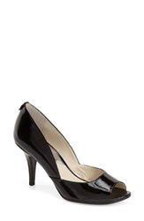 Women's Michael Michael Kors 'Nathalie' Open Toe Pump Black